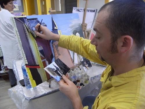 Réalisation d'une peinture représentant Dinan